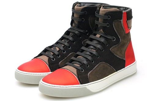 Lanvin-FallWinter-2009-High-Top-Trainer-BrownRed